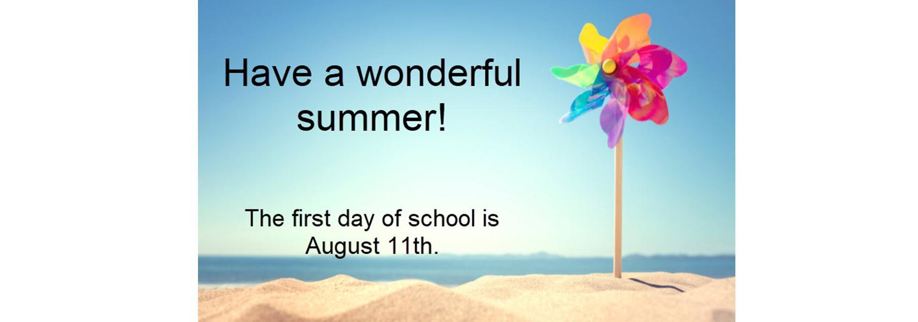 first day of school august 11