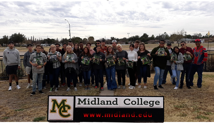 Grape Creek High School students touring Midland College