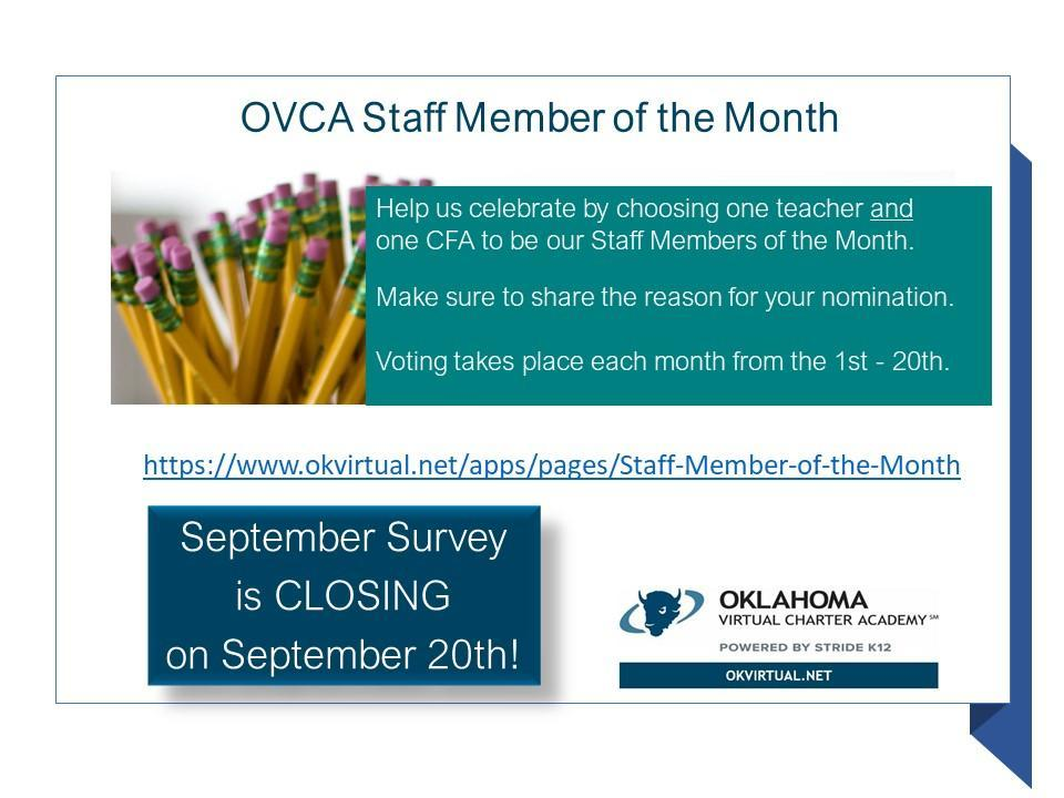 graphic - Staff Member of the Month Survey
