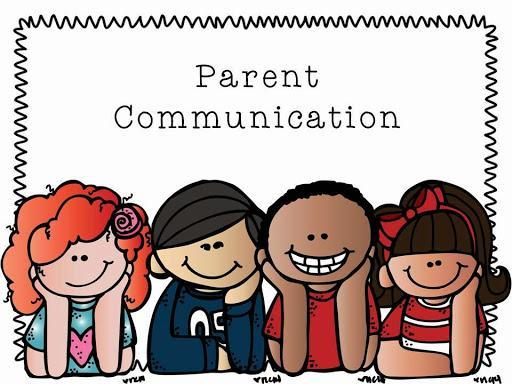 Image that reads Parent Communication that introduces News from the Superintendent-no link