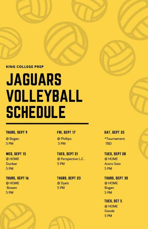KCP Volleyball Schedule