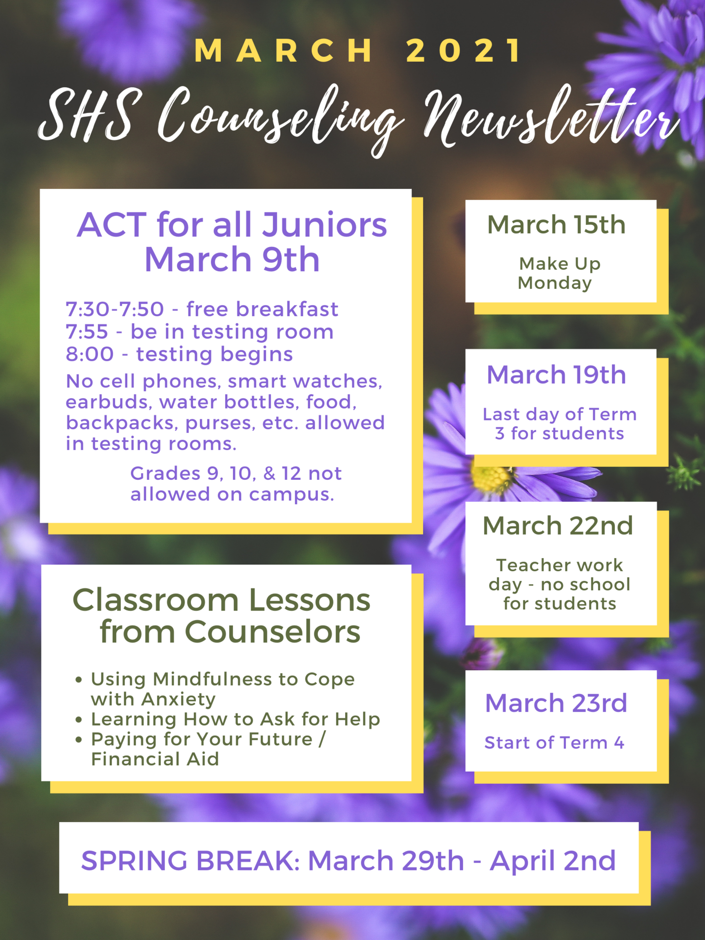 March Newsletter 2020