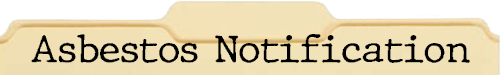 Asbestos Notification File Folder