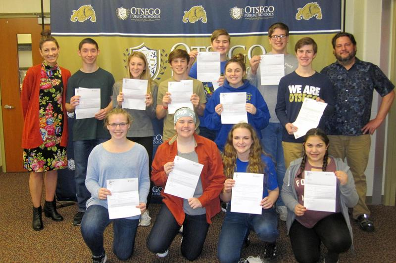 Group picture of students accepted for program with Mrs. Wrenfrow and Mr. Miller
