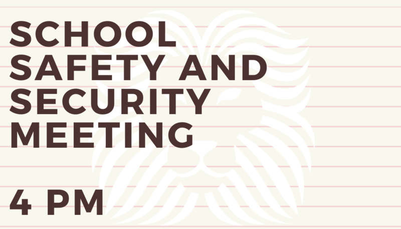 School Safety and Security Meeting Featured Photo