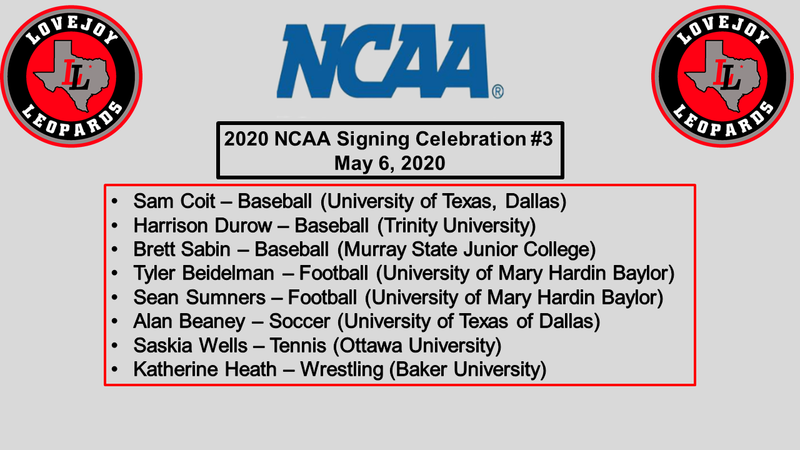 NCAA Signing Day - May 8, 2020 Featured Photo