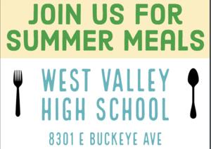 summer meals flyer