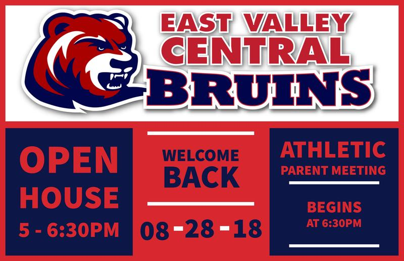 Join us for Open House on Tuesday, August 28th from 5:00 - 6:30 in the evening. The athletic parent meeting begins at 6:30.