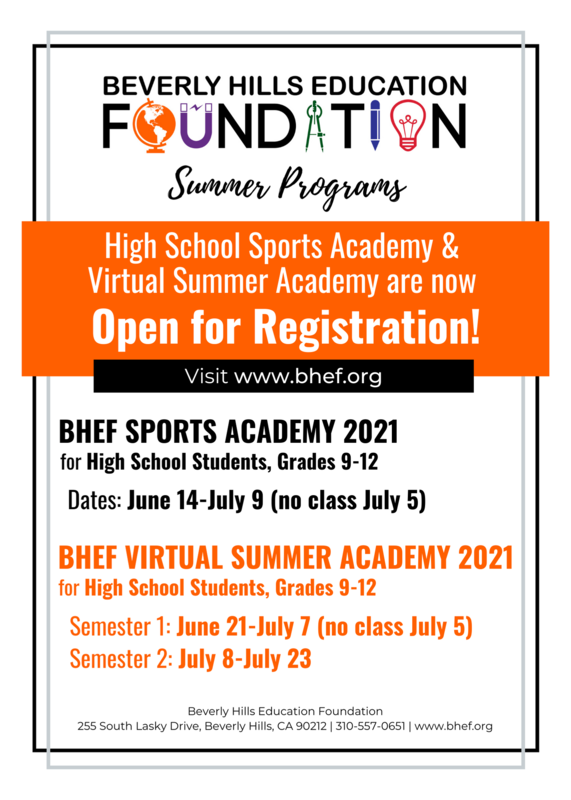 High School Sports Academy and Virtual Summer Academy is open for registration!