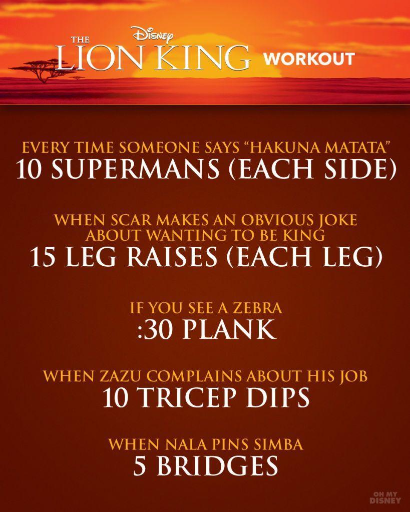 Lion King Workout
