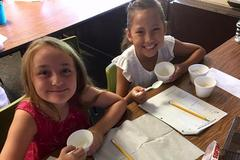 Making our own ice cream!