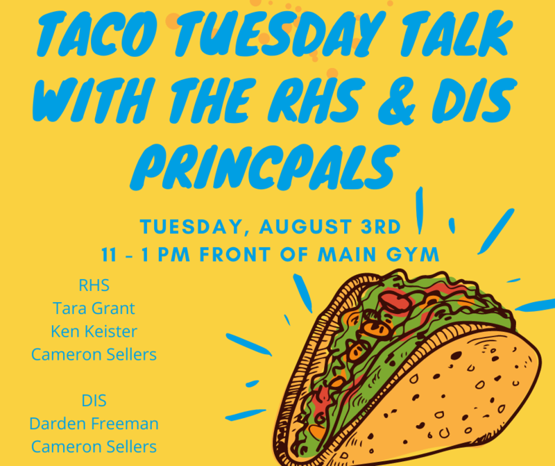 Taco Tuesday Talk with the Principals