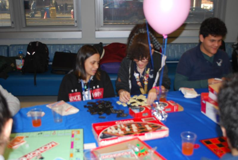 girls playing board games