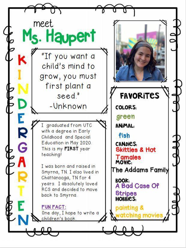 Meet Ms. Haupert