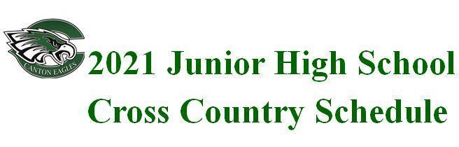 2021 Junior High Cross Country Schedule
