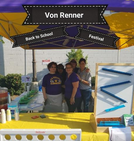 Teacher volunteers for the Welcome Back Festival 2017