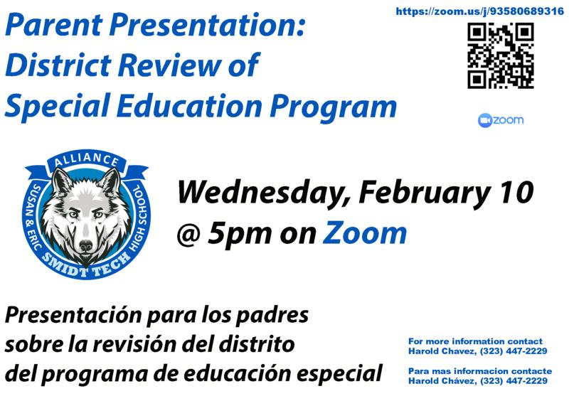 Parent Presentation - 02/05/21 @ 5pm Thumbnail Image