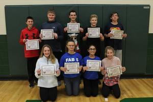 8th Grade Award Winners