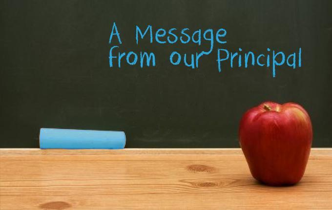 Letter from Principal Richards Featured Photo