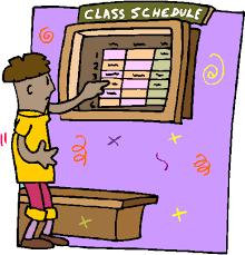 class schedule picture
