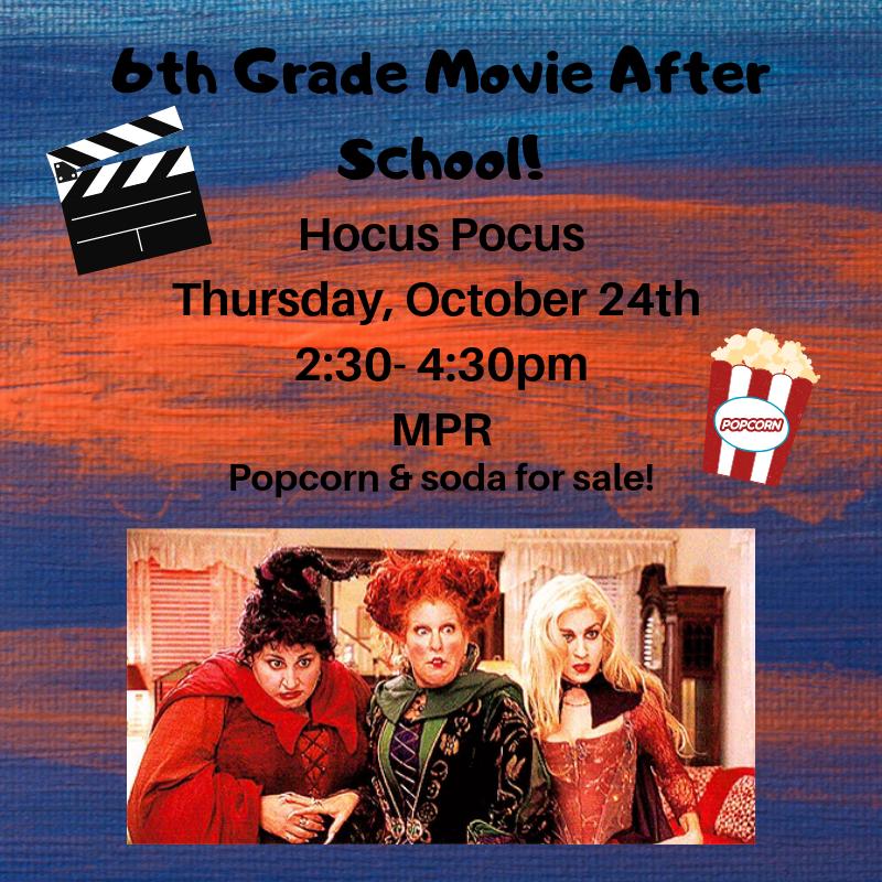 6th Grade Movie Night Thumbnail Image