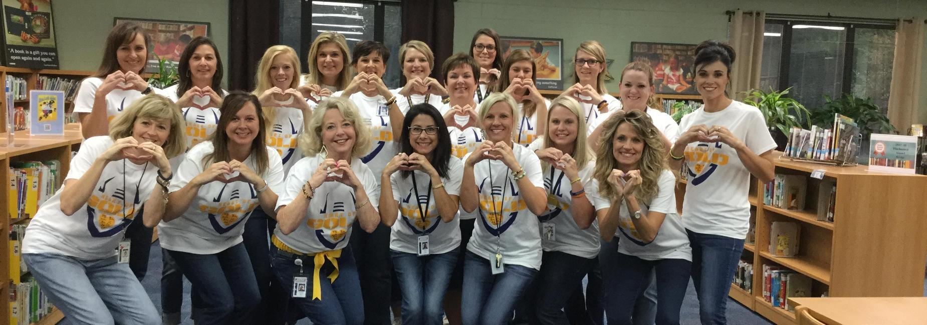 Teachers with Heart Of Gold t-shirts.