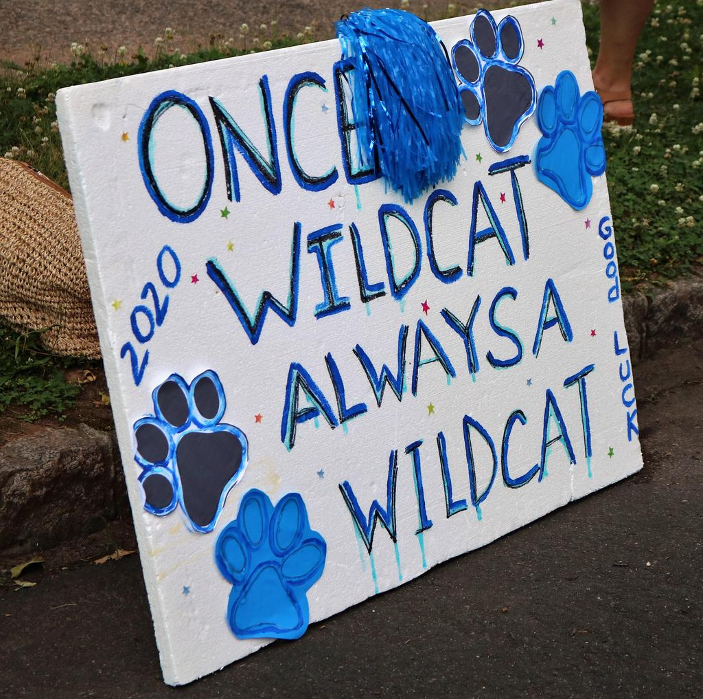 "Photo of ""once a wildcat, always a wildcat"" sign."