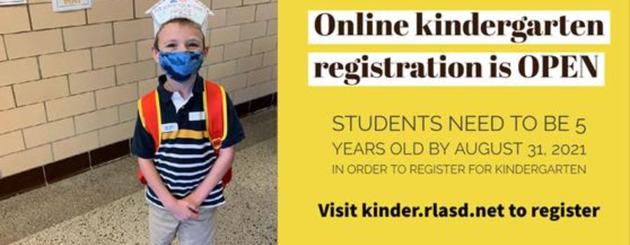 Kindergarten registration is open - kinder.rlasd.net