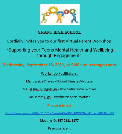 Parent Workshop--Supporting Your Teens Mental Health Featured Photo