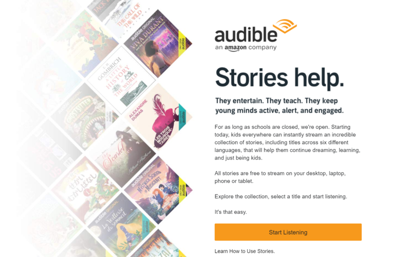 Free Audible Stories Featured Photo