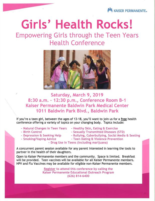 Girls' Health Rocks!