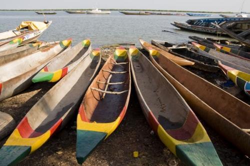Boats along the coast, Dakar Senegal
