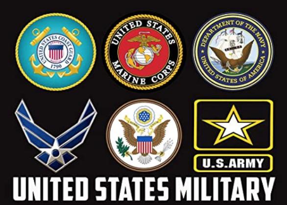 image of military schools' logos