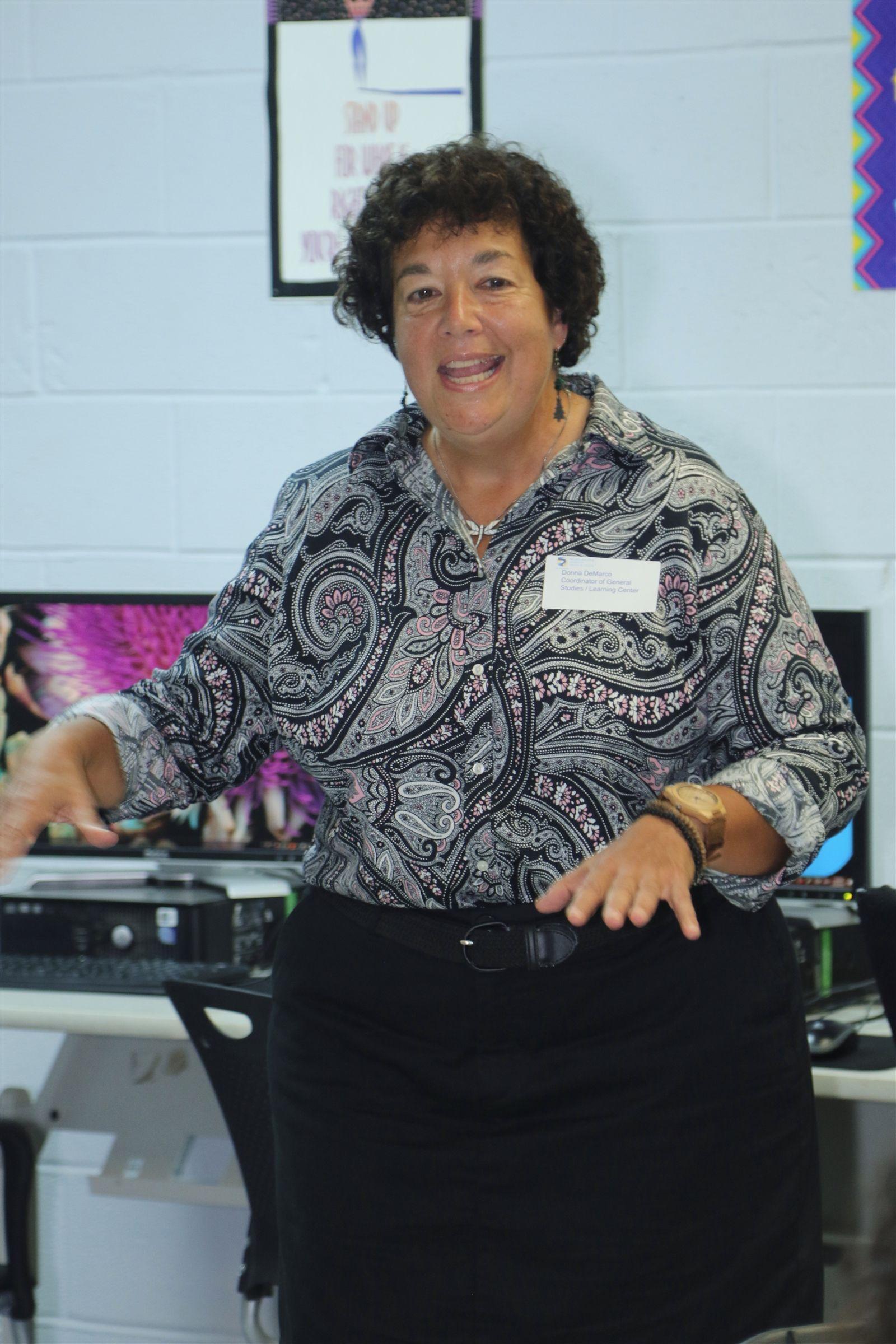 Ms. Donna De Marco speaks to prospective families