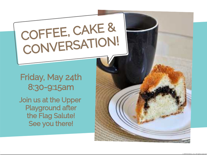 Coffee, Cake and Conversation on May 24th Featured Photo