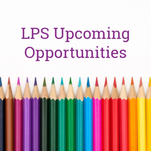 LPS Upcoming Opportunities Header with colored pencils