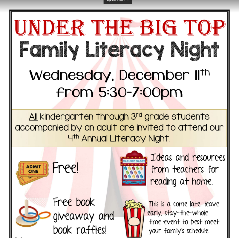 Perry Elementary's 4th Annual Literacy Night Thumbnail Image