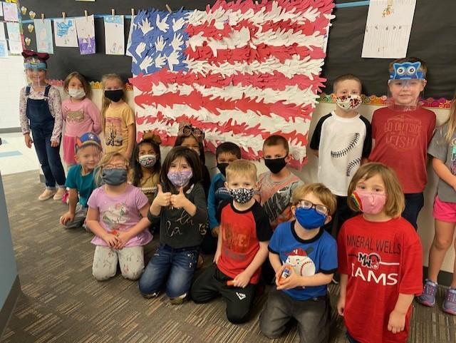 Lamar Community American Flag