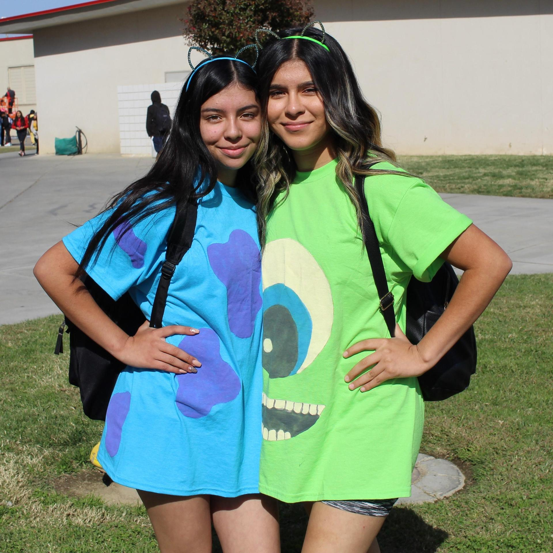 Fatima Gomez as Sullivan and Evelyn Lopez as Mike Wazowski