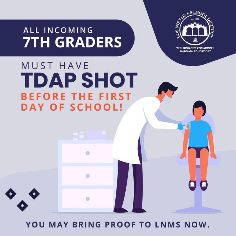 TDAP Needed for all 7th Graders Featured Photo