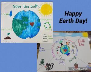 Earth day posters collage
