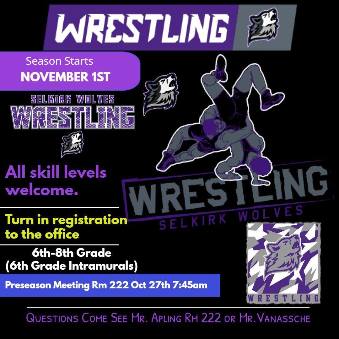 Wrestling and Volleyball Begin November 1 Image