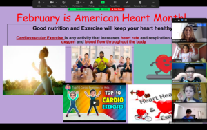 February is American Heart Month slide and zoom class panel