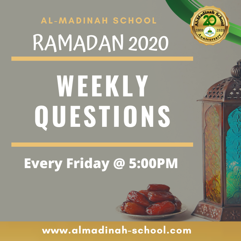 Ramadan Weekly Questions Featured Photo