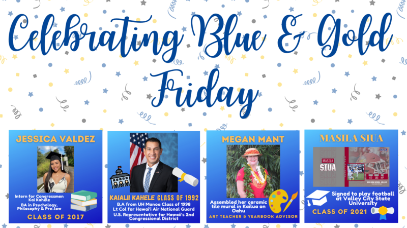 Celebrating Blue & Gold Friday |