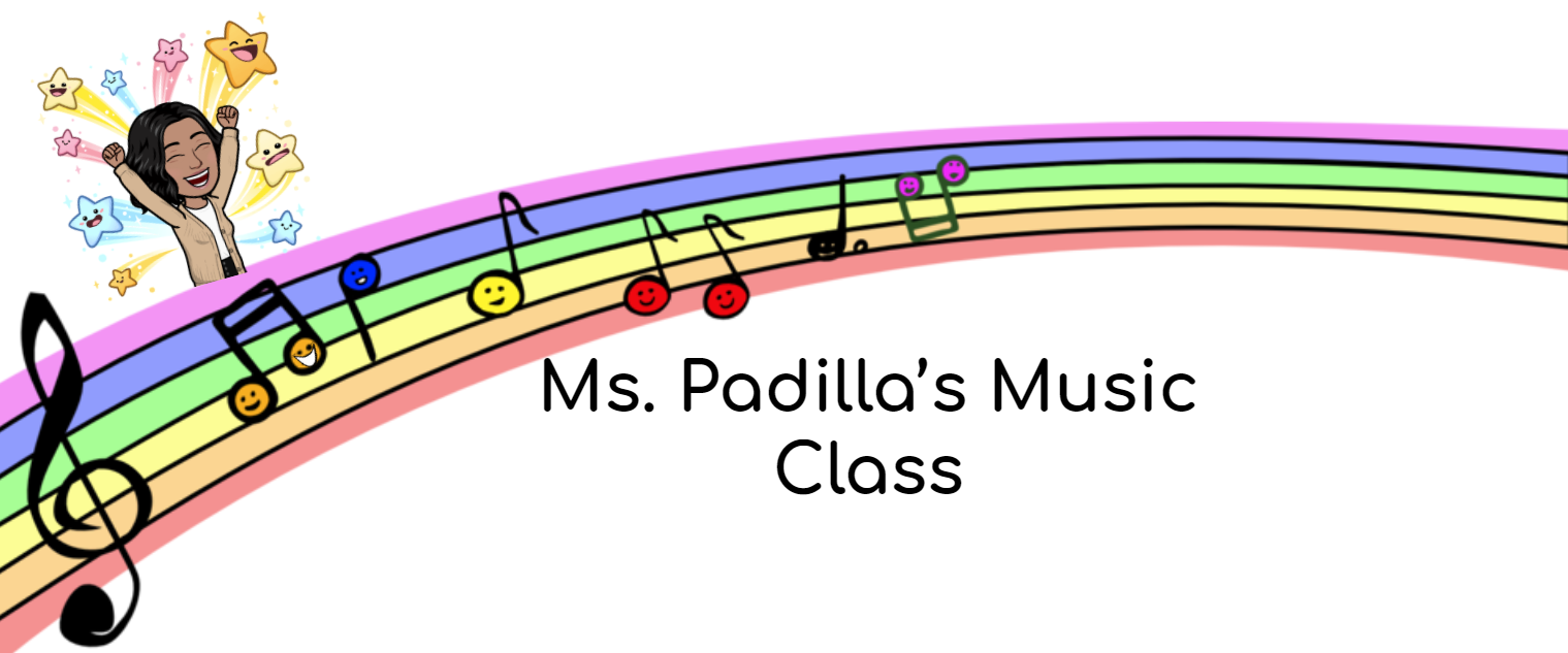 Logo for 'Ms. Padilla's Music Class'