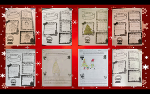 Christmas worksheet collage
