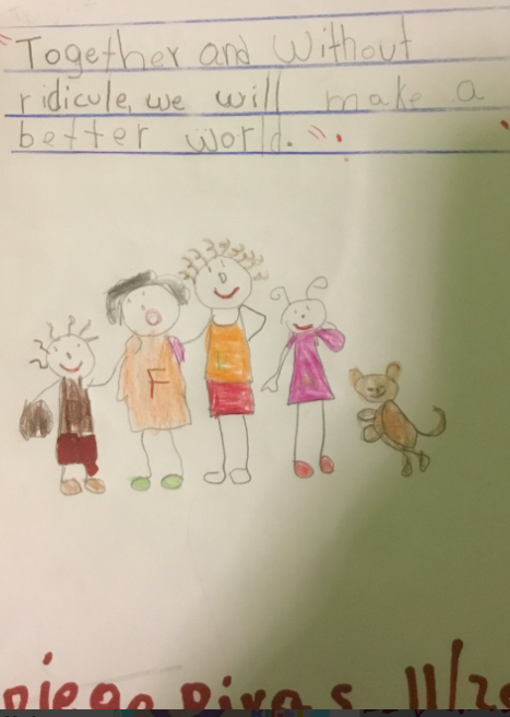 Diego's anti-bullying poster