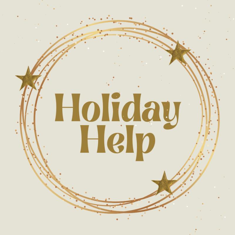 holiday help, holiday, stars