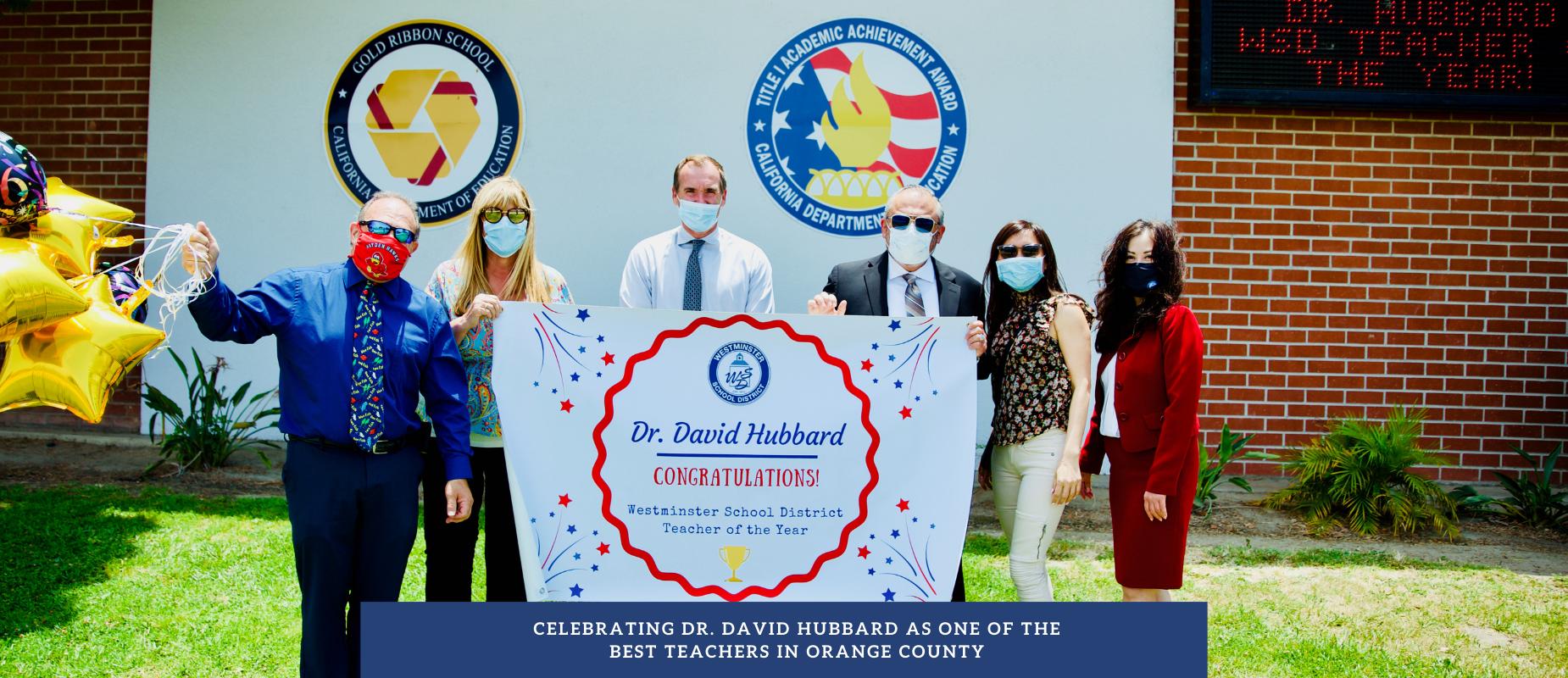 Celebrating Dr. David Hubbard, WSD Teacher of the Year
